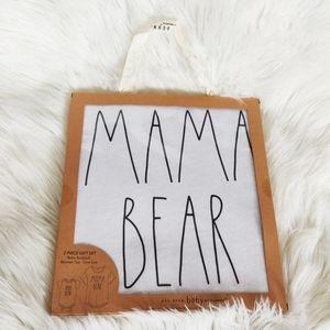 Rae Dunn Mama Bear and Baby Bear Shirt Gift Set